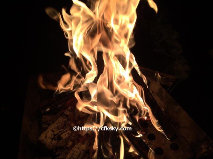 那須野が原公園オートキャンプ場で楽しんだ焚き火タイム