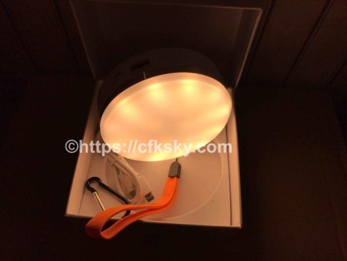 キャンプで使う充電式LEDランタンの電球色