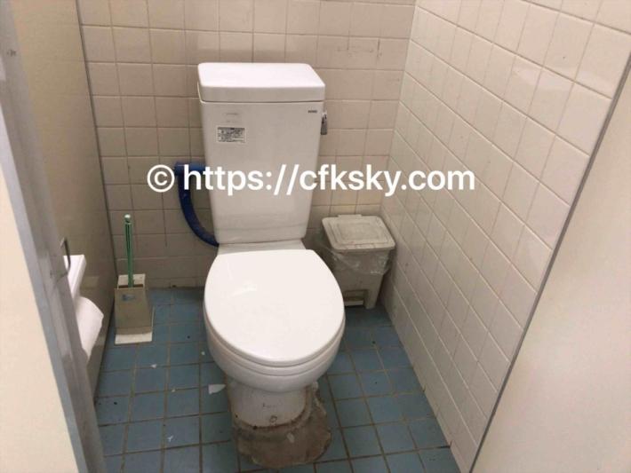上野沼やすらぎの里キャンプ場の洋式トイレ個室