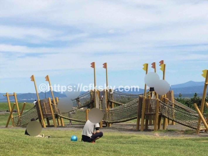 ふじのくに田子の浦みなと公園にあるアスレチック遊具