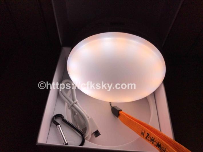 キャンプで使う充電式LEDランタンの昼光色