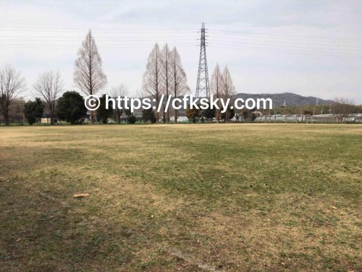 上野沼やすらぎの里キャンプ場の多目的運動広場