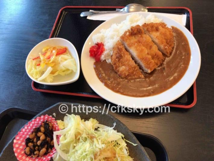 下賀茂温泉銀の湯会館のお食事処でカツカレーを食べた
