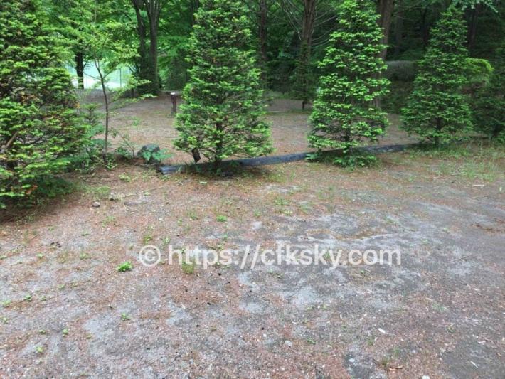 あづま森林公園キャンプ場オートサイト9番サイト
