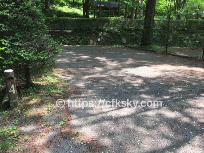 あづま森林公園キャンプ場オートサイト