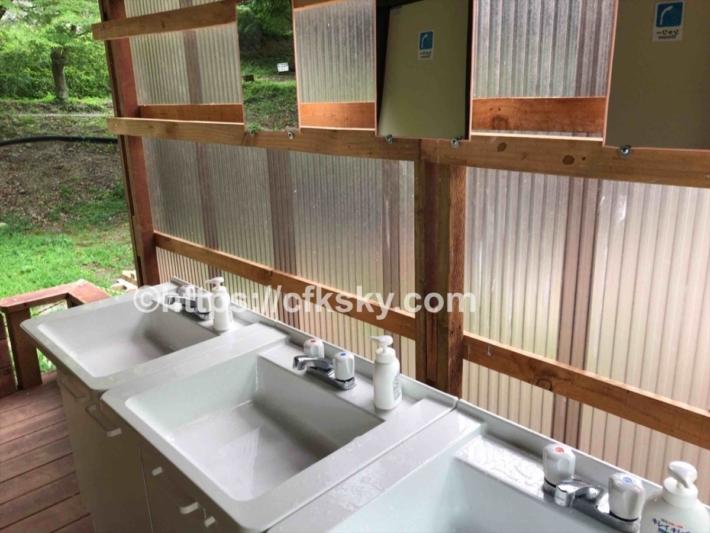 かもしかオートキャンプ場の洗面所