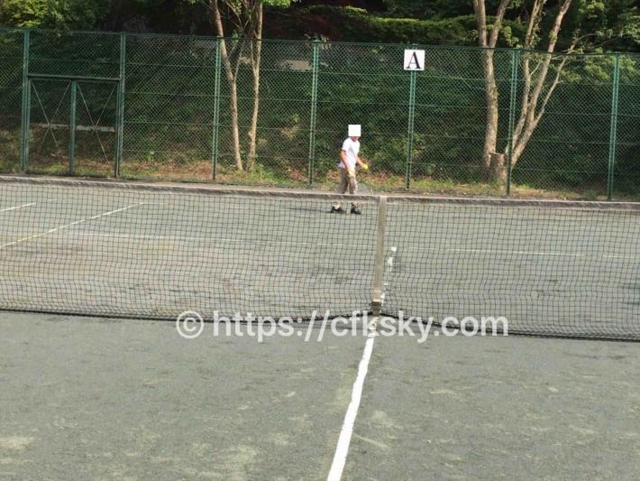 あづま森林公園キャンプ場でテニスを楽しんだ