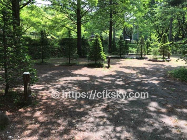 あづま森林公園キャンプ場のオートサイト6番サイト、7番サイト、8番サイトサイト