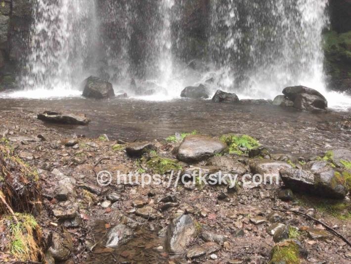 唐沢の滝をみに行った