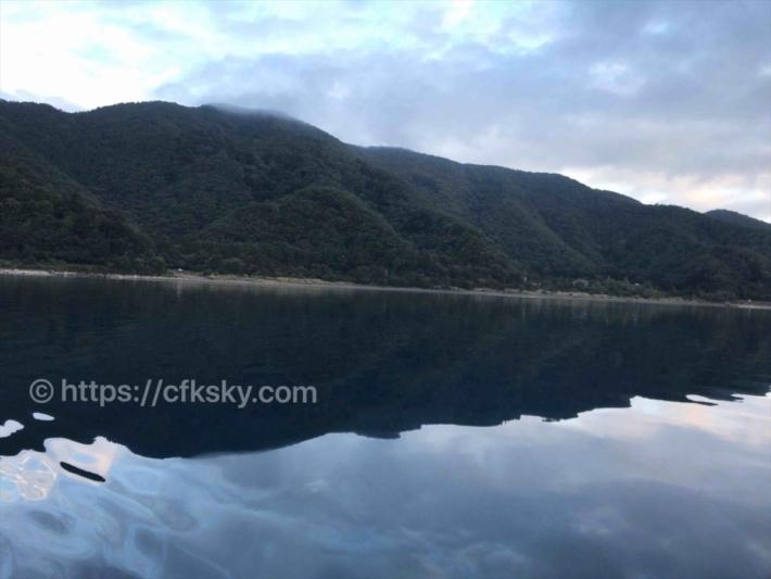 本栖湖での朝漕ぎカヤック