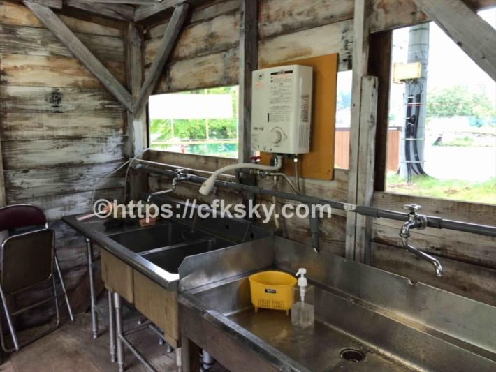 炊事場に設置されている給湯器