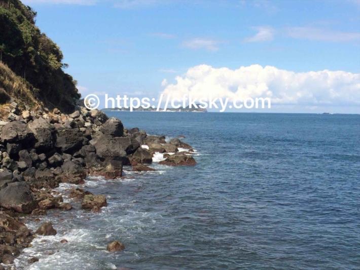 加部島での釣り場を探して到着