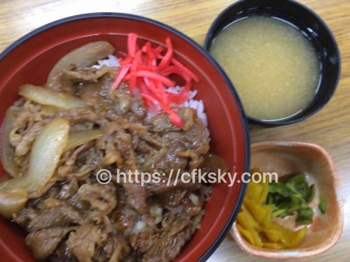 東照温泉 旅籠福田屋で食べた夕食のカルビ丼