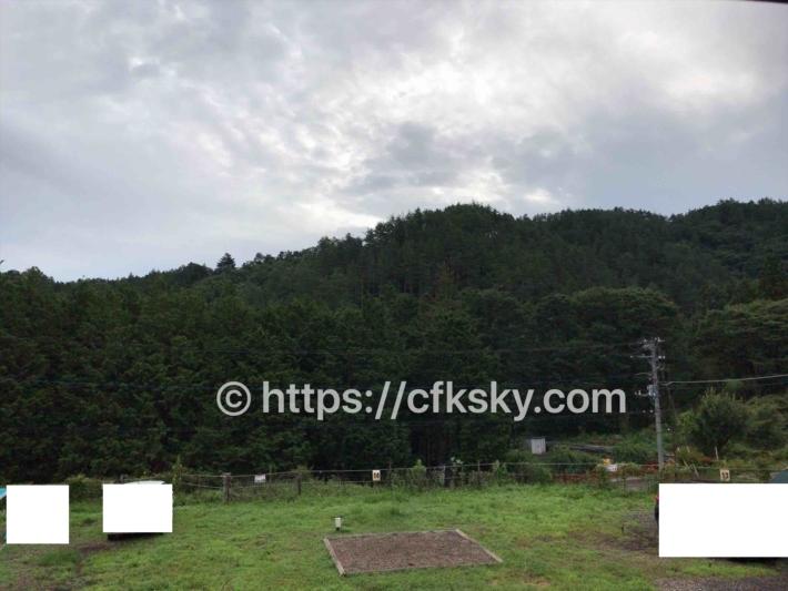 和みの里オートキャンプ場中段サイトからの眺め