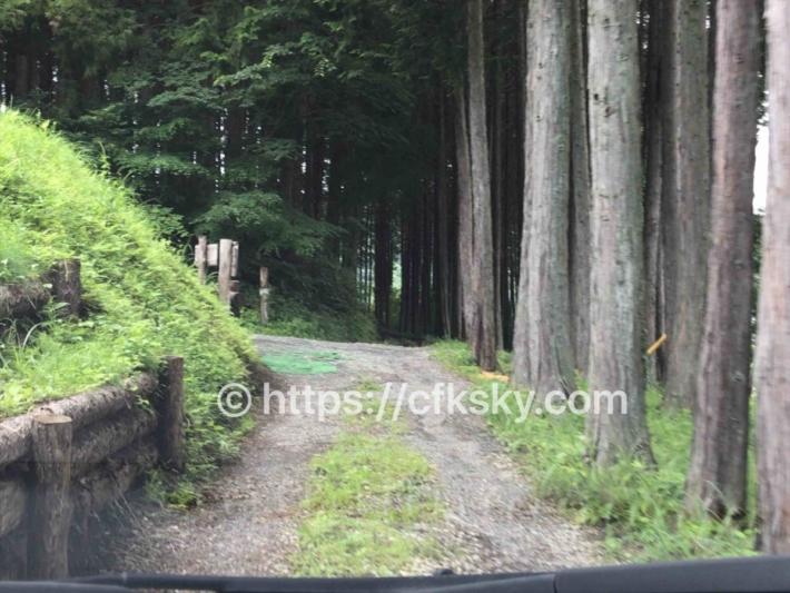 和みの里オートキャンプ場 通路