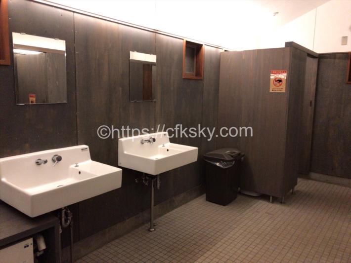白州・尾白の森名水公園べるが 尾白の森キャンプ場のトイレにある手洗い場
