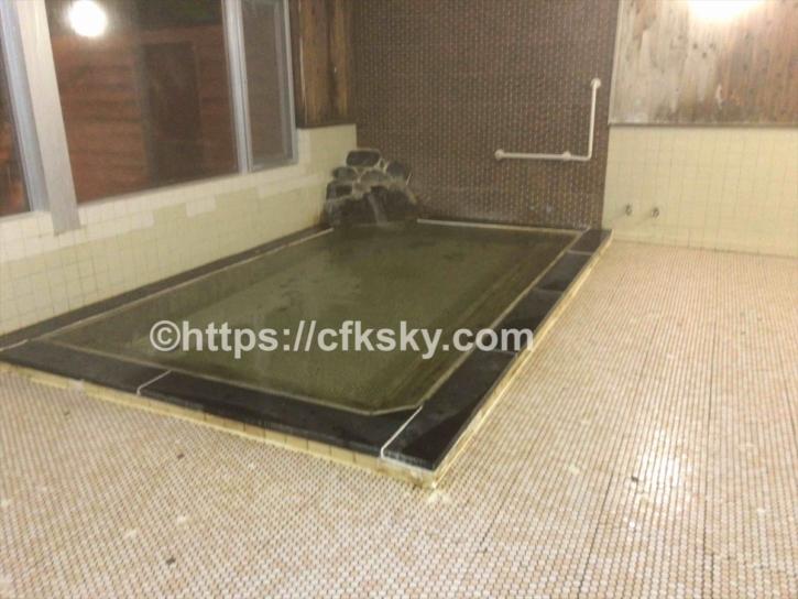 グリーンパーク尾瀬戸倉でキャンプの時に利用できる尾瀬高原ホテルの人口温泉の浴室