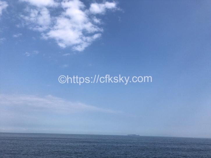 宇佐美城山公園キャンプ場からみえる宇佐美海水浴場