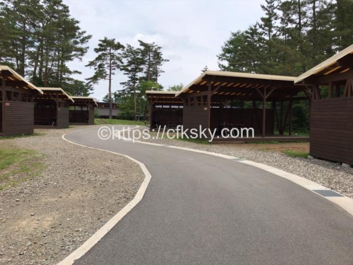 PICA Fujiyamaのテントサイトの場内通路