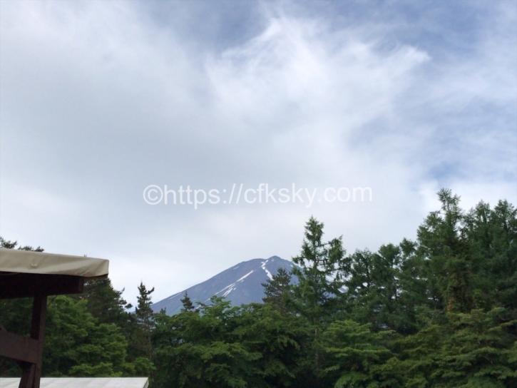 PICA Fujiyamaのテントサイトからの富士山を眺められるサイト