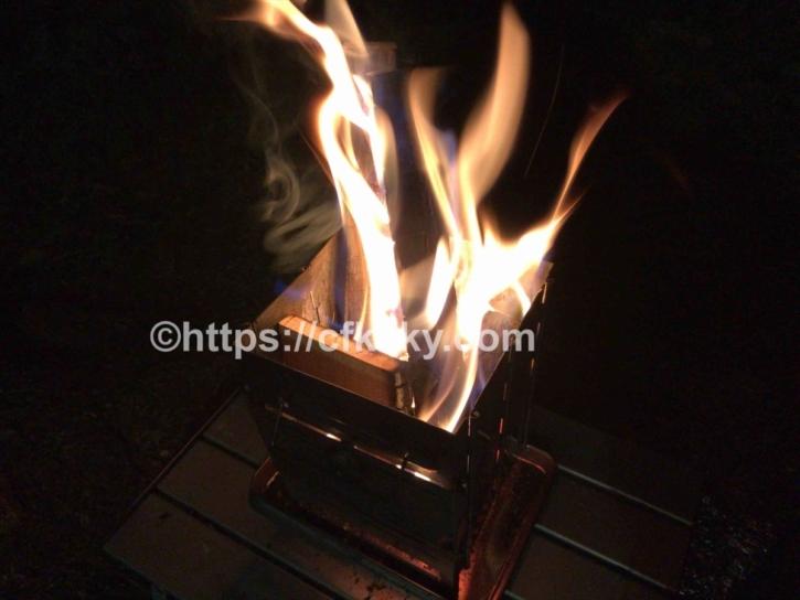 オートキャンプすずらんで楽しんだ焚き火