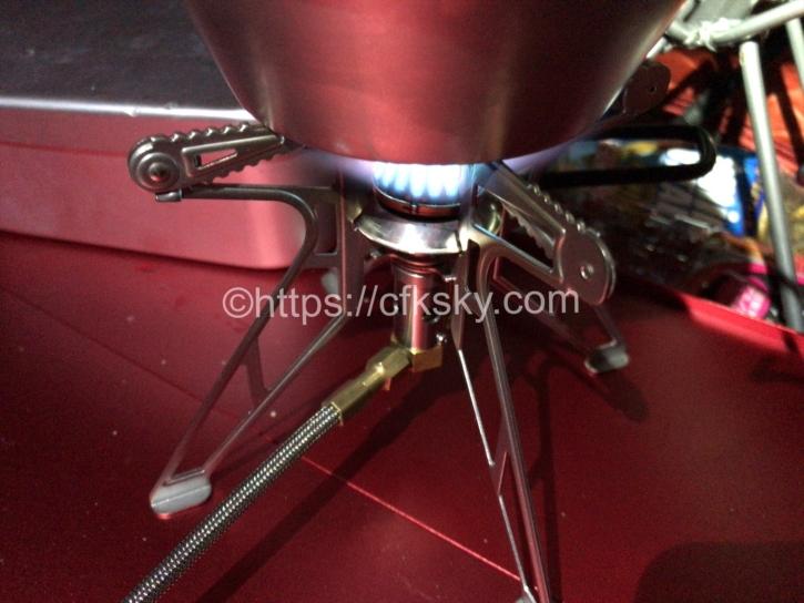 プリムスのシングルバーナーウルトラスパイダーストーブⅡを使ってシェラカップでお湯を沸かしてみた