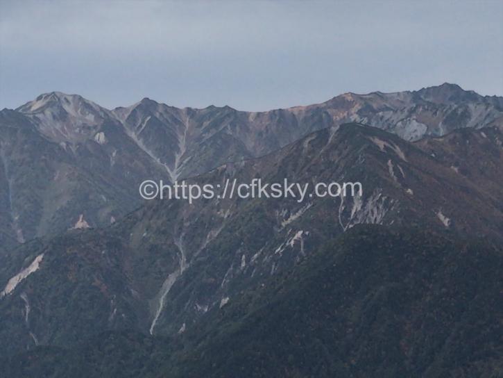 燕山荘手前からの絶景