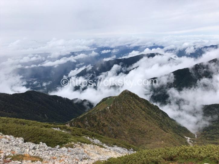 木曽駒ケ岳頂上からの絶景