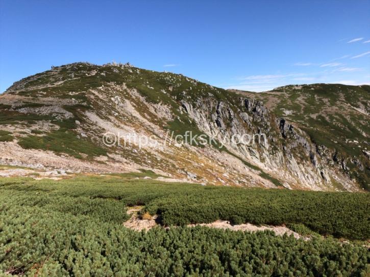 八丁坂の下山景色