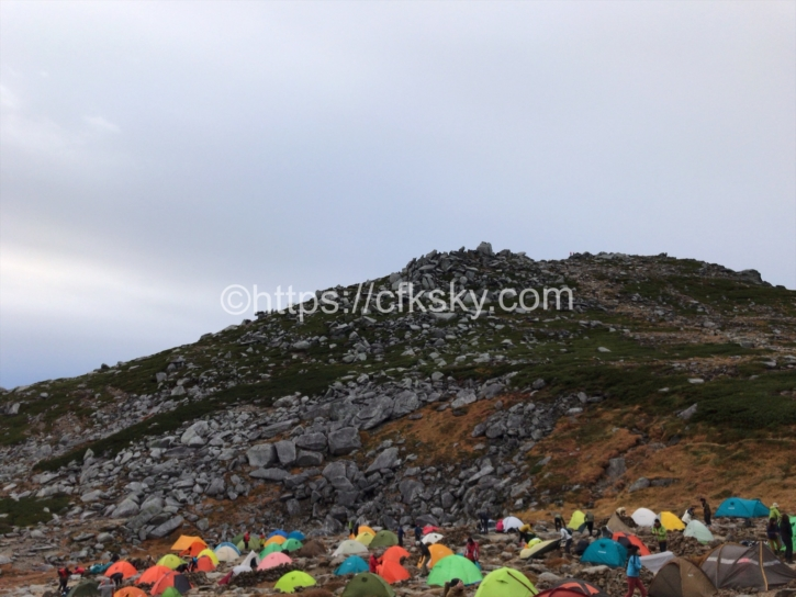 1000円の格安キャンプ場で楽しんできた標高3000メートル近くのテント場で楽しんできたキャンプ