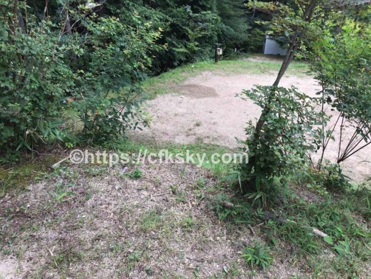 田立の滝オートキャンプ場サイト
