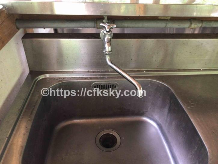 田立の滝オートキャンプ場の炊事場はお湯はでない
