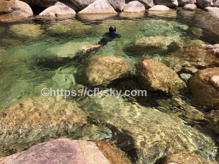 田立の滝オートキャンプ場で川遊びした川