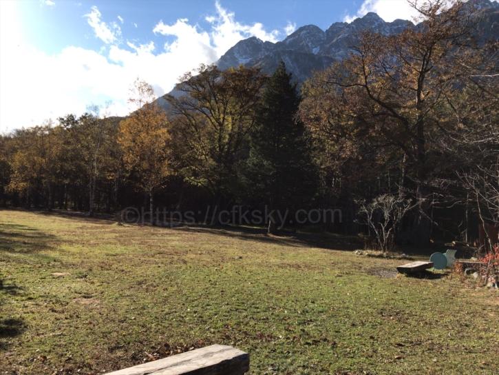 徳澤キャプ場からの眺め