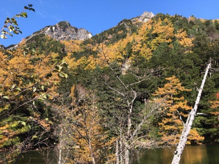 明神池から見る景色