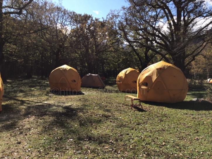 徳澤キャンプ場の常設テント