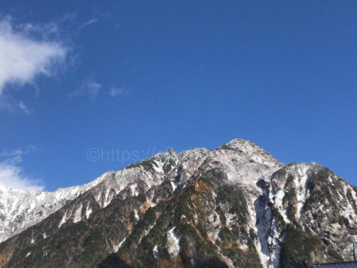 上高地からの穂高連峰4