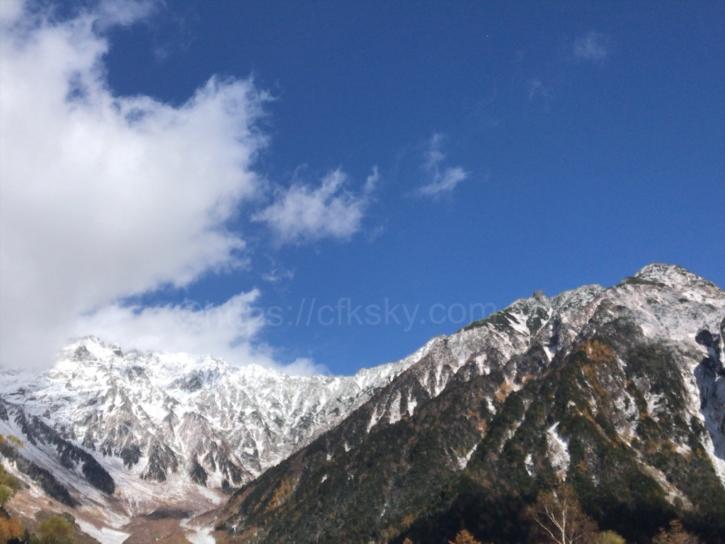 上高地からの穂高連峰3