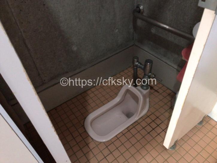 筑波ふれあいの里キャンプ場トイレ和式