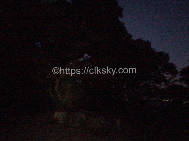 筑波山へナイトハイクで真っ暗
