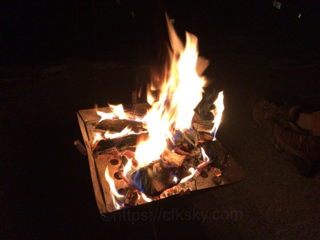 新しいキャンプ用品を使ってきたキャンプと焚火